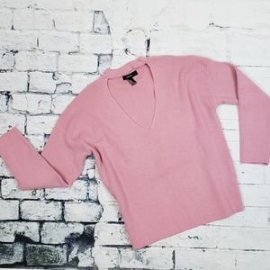 Dusty Pink Forever 21 V-neck Sweater